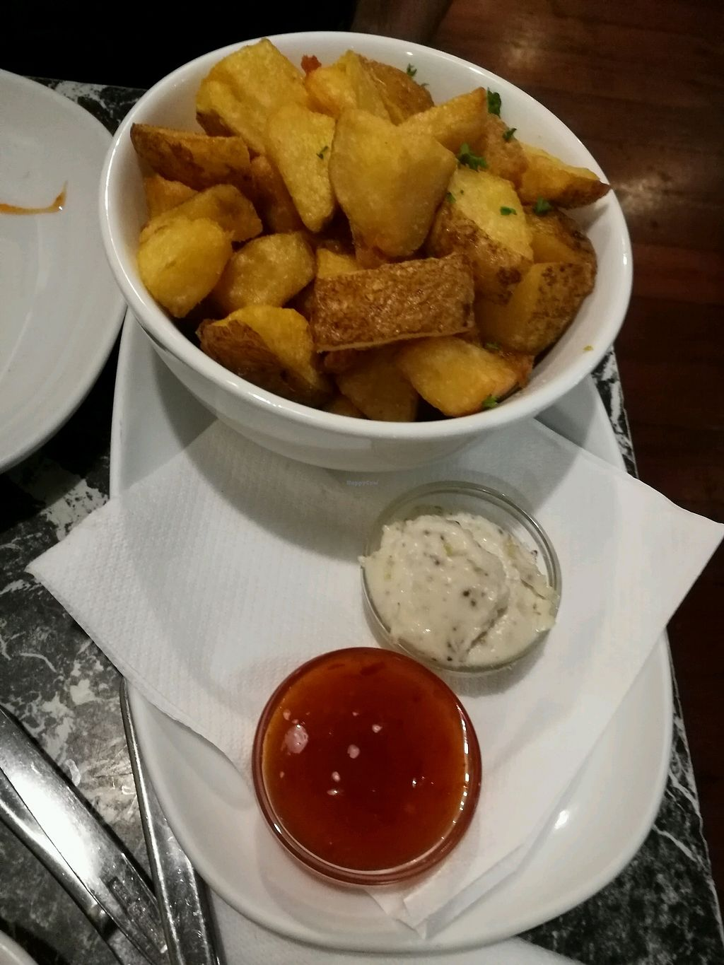 "Photo of Midnight Espresso Bar  by <a href=""/members/profile/Felicious"">Felicious</a> <br/>chunky potato chips with vegan mayo <br/> March 11, 2018  - <a href='/contact/abuse/image/5126/369444'>Report</a>"