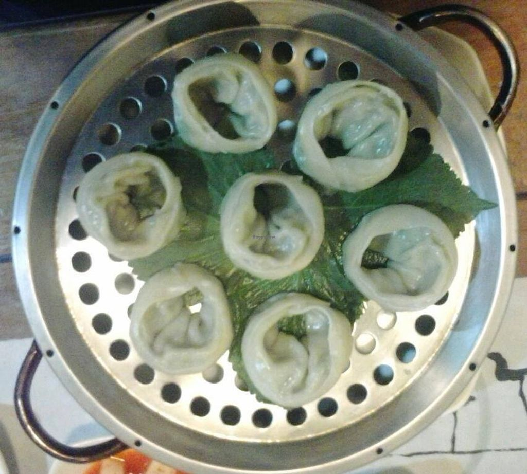 "Photo of Dajeon Cafe  by <a href=""/members/profile/vegan_simon"">vegan_simon</a> <br/>Tasty steamed dumplings served with daikon kimchi and fried beancurd <br/> October 25, 2015  - <a href='/contact/abuse/image/51276/122615'>Report</a>"