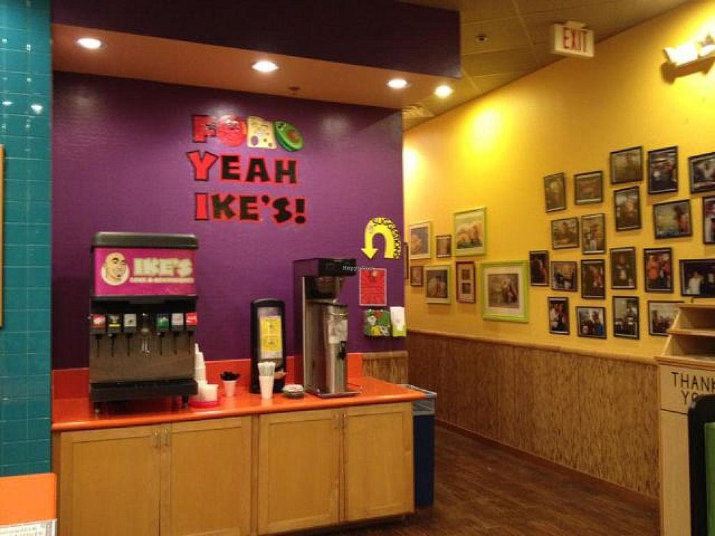 """Photo of Ike's  by <a href=""""/members/profile/Tigra220"""">Tigra220</a> <br/>fountain drink station (photos on the wall are of celebrity patrons) <br/> September 24, 2014  - <a href='/contact/abuse/image/51280/80988'>Report</a>"""