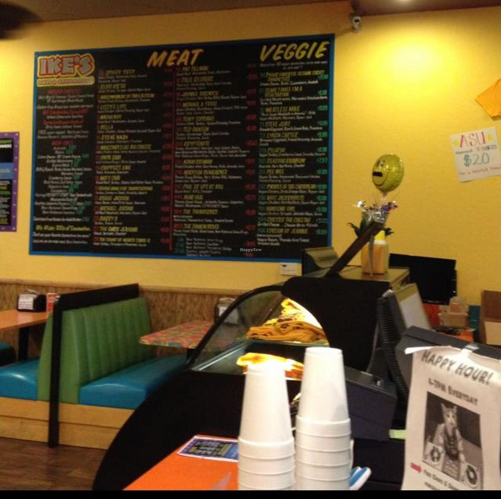 """Photo of Ike's  by <a href=""""/members/profile/Tigra220"""">Tigra220</a> <br/>menu board  <br/> September 24, 2014  - <a href='/contact/abuse/image/51280/80990'>Report</a>"""