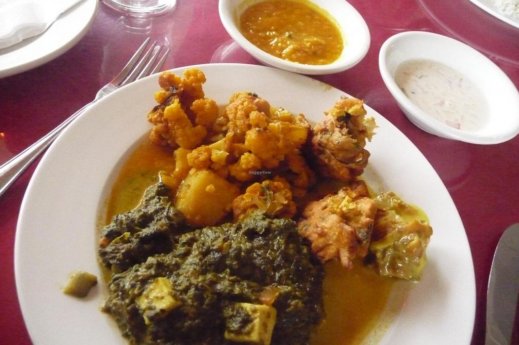 """Photo of Passage to India  by <a href=""""/members/profile/Geri"""">Geri</a> <br/>Varied veggie plate! <br/> September 13, 2014  - <a href='/contact/abuse/image/51293/79809'>Report</a>"""