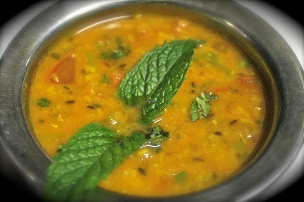 """Photo of Passage to India  by <a href=""""/members/profile/pti2005"""">pti2005</a> <br/>Dal Tarka Blend of Red & Yellow Lentils topped with fried Garlic, Cumin & exotic Spices <br/> March 26, 2015  - <a href='/contact/abuse/image/51293/97054'>Report</a>"""