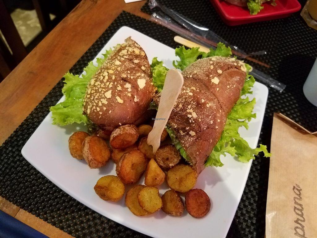 "Photo of Prana Cozinha Vegetariana  by <a href=""/members/profile/KarimKanfoudi"">KarimKanfoudi</a> <br/>Burger <br/> May 10, 2016  - <a href='/contact/abuse/image/51294/148345'>Report</a>"