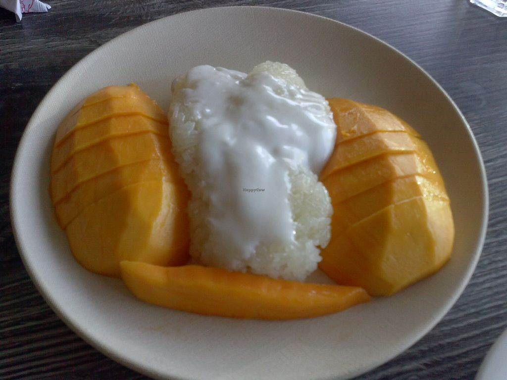 """Photo of Vegan Glory  by <a href=""""/members/profile/Sonja%20and%20Dirk"""">Sonja and Dirk</a> <br/>sticky rice with mango <br/> August 10, 2015  - <a href='/contact/abuse/image/5129/113074'>Report</a>"""