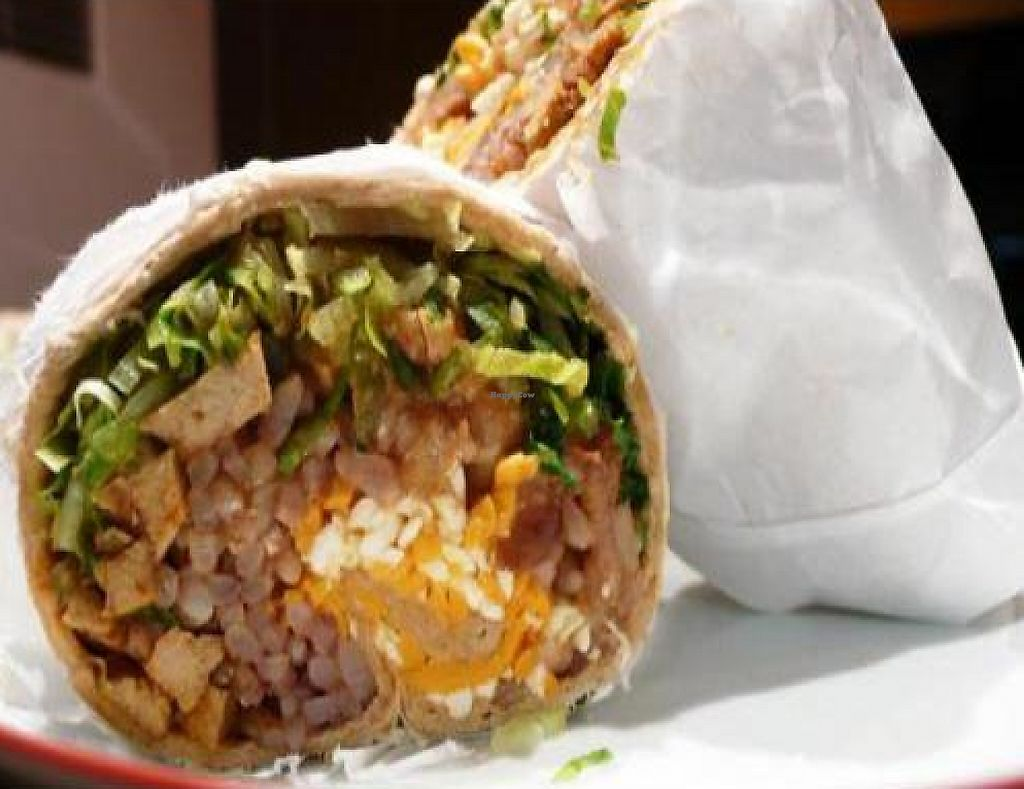 """Photo of Vegan Glory  by <a href=""""/members/profile/quarrygirl"""">quarrygirl</a> <br/>soy chicken burrito <br/> February 1, 2012  - <a href='/contact/abuse/image/5129/190570'>Report</a>"""