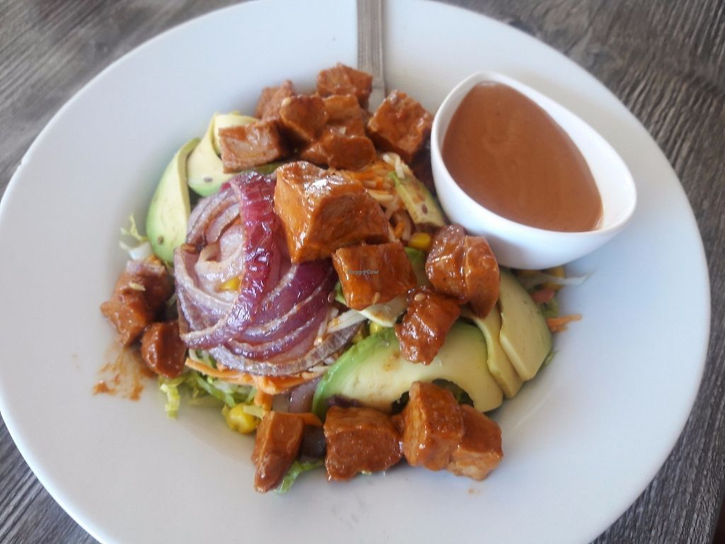"""Photo of Vegan Glory  by <a href=""""/members/profile/Sonja%20and%20Dirk"""">Sonja and Dirk</a> <br/>BBQ chicken salad <br/> June 18, 2017  - <a href='/contact/abuse/image/5129/270546'>Report</a>"""