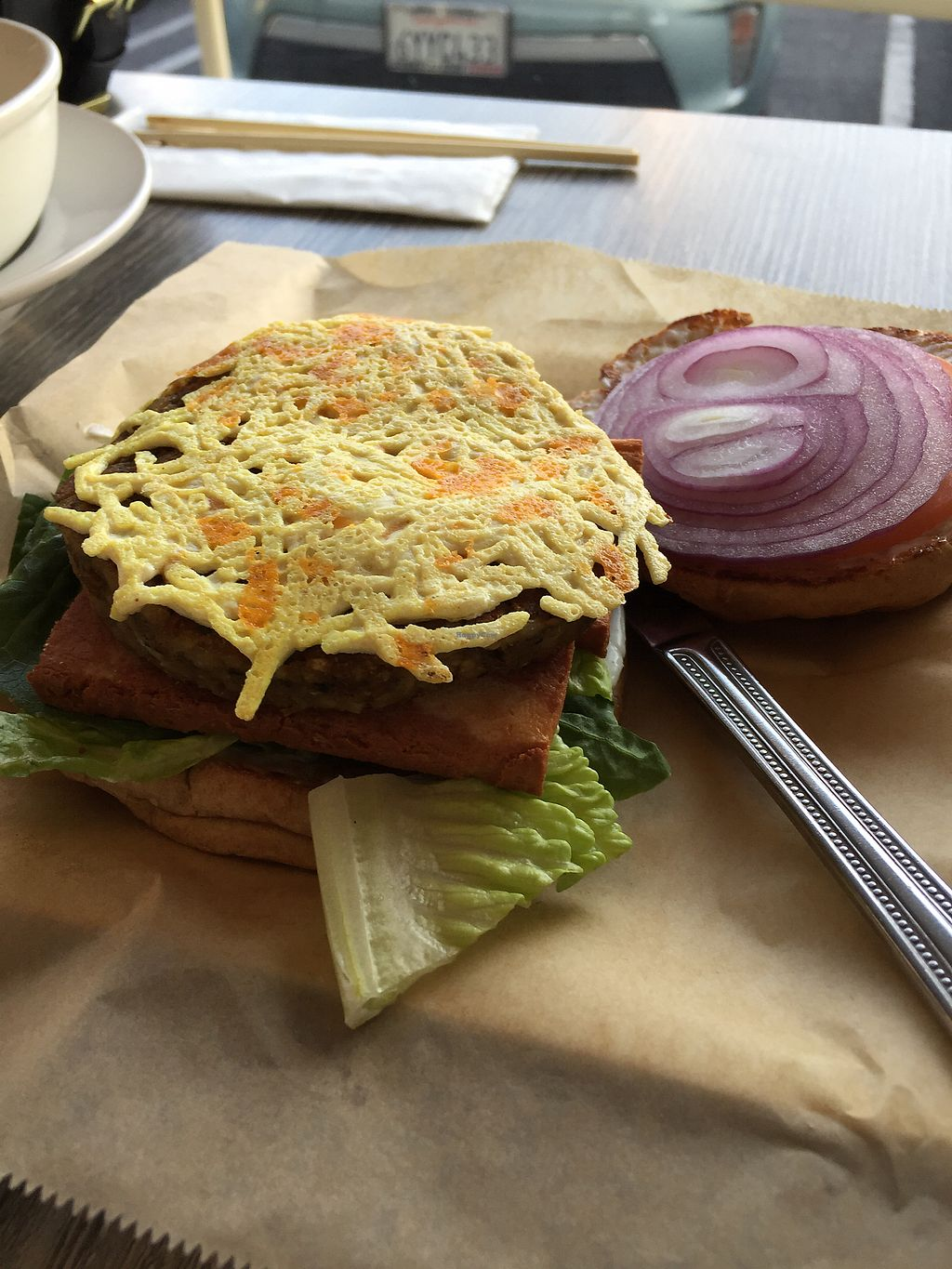 """Photo of Vegan Glory  by <a href=""""/members/profile/R-MV"""">R-MV</a> <br/>Veggie Burger <br/> October 9, 2017  - <a href='/contact/abuse/image/5129/313413'>Report</a>"""