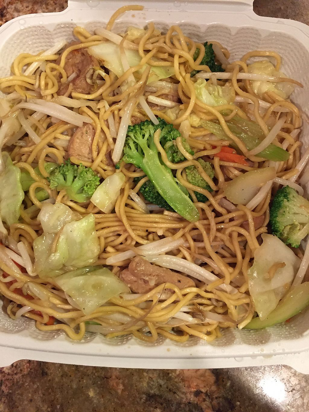 """Photo of Vegan Glory  by <a href=""""/members/profile/R-MV"""">R-MV</a> <br/>Chicken chow mein  <br/> October 9, 2017  - <a href='/contact/abuse/image/5129/313444'>Report</a>"""