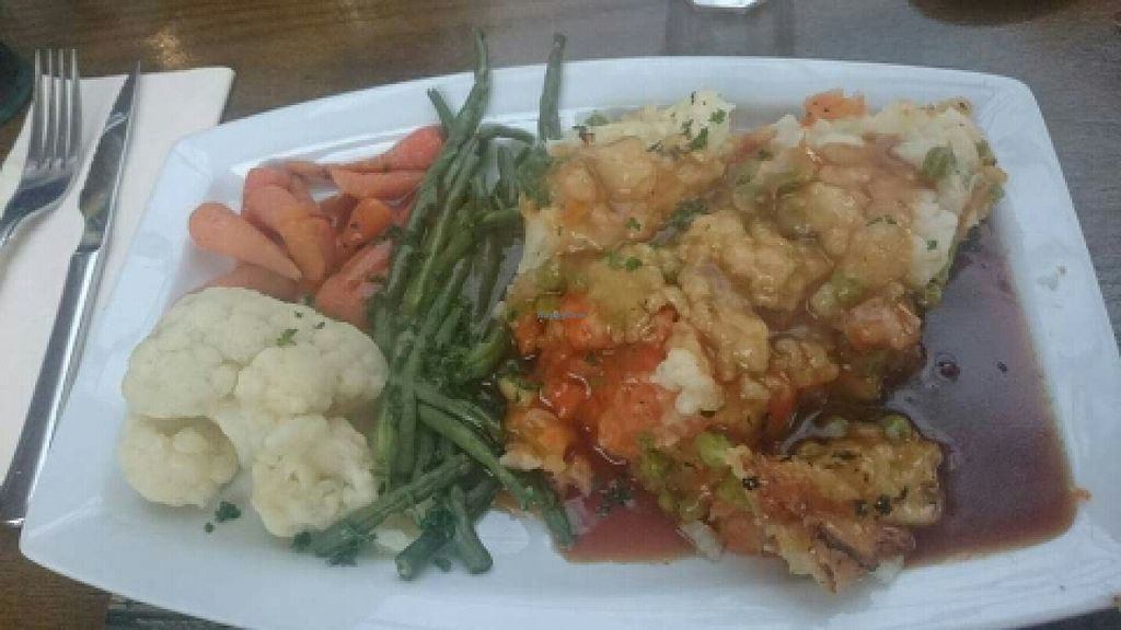 """Photo of The Golden Lion Pub  by <a href=""""/members/profile/Gupalsmurthpadacal"""">Gupalsmurthpadacal</a> <br/>vegan shepards pie <br/> May 7, 2016  - <a href='/contact/abuse/image/51301/147853'>Report</a>"""