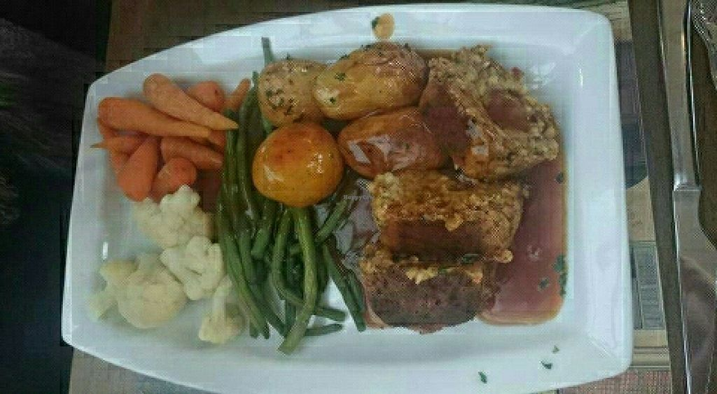 """Photo of The Golden Lion Pub  by <a href=""""/members/profile/Gupalsmurthpadacal"""">Gupalsmurthpadacal</a> <br/>vegan nut roast <br/> May 7, 2016  - <a href='/contact/abuse/image/51301/147856'>Report</a>"""