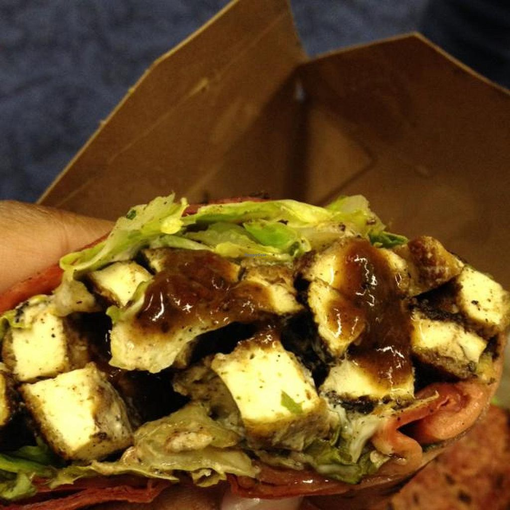 "Photo of CLOSED: Karyn's Cooked  by <a href=""/members/profile/Tigra220"">Tigra220</a> <br/>a peek inside the Jerk Tofu Wrap  <br/> November 16, 2014  - <a href='/contact/abuse/image/5130/85799'>Report</a>"