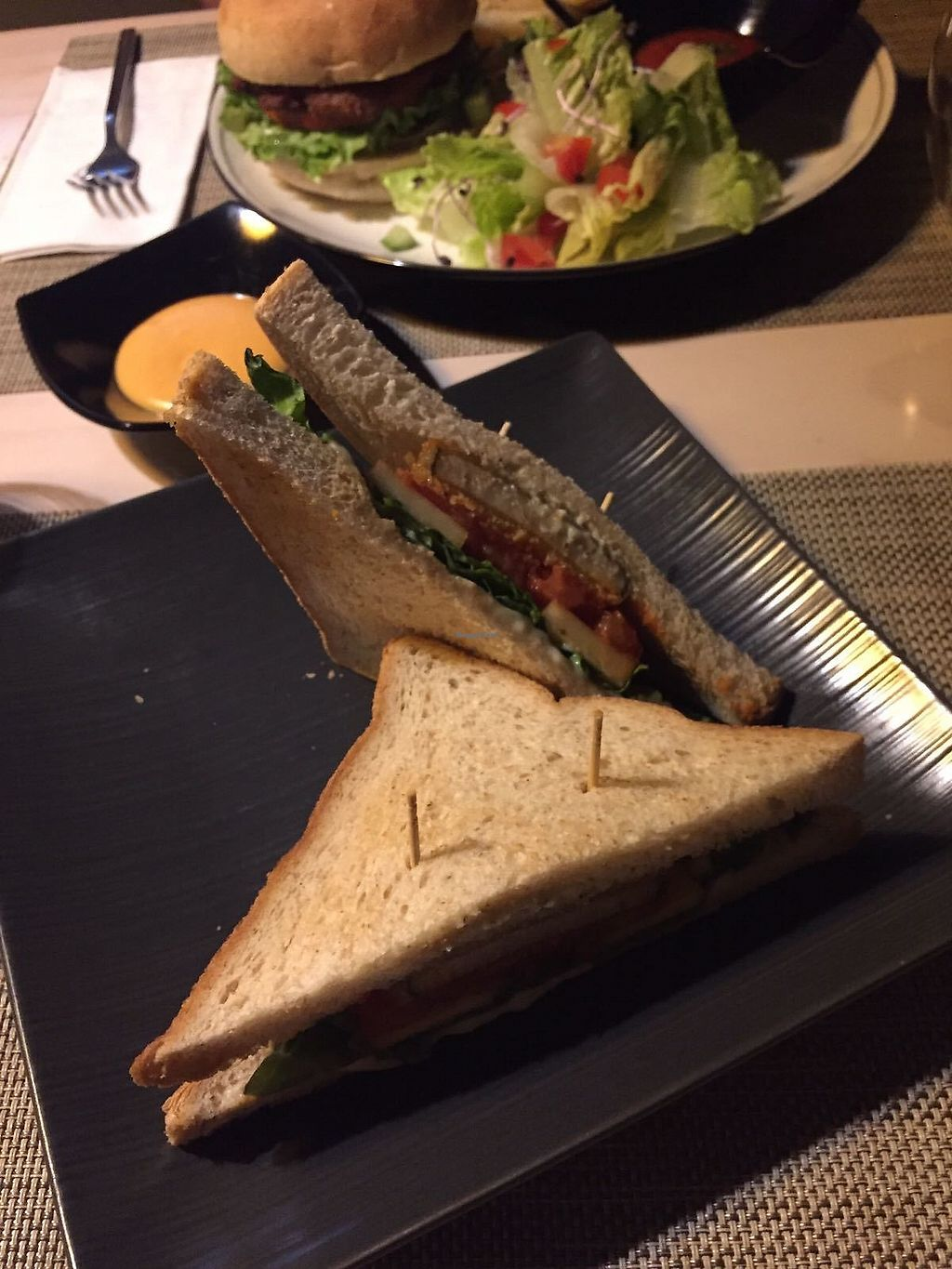 """Photo of Soul R. Vegan Cafe  by <a href=""""/members/profile/FlokiTheCat"""">FlokiTheCat</a> <br/>Fish sandwich <br/> July 31, 2017  - <a href='/contact/abuse/image/51321/287089'>Report</a>"""