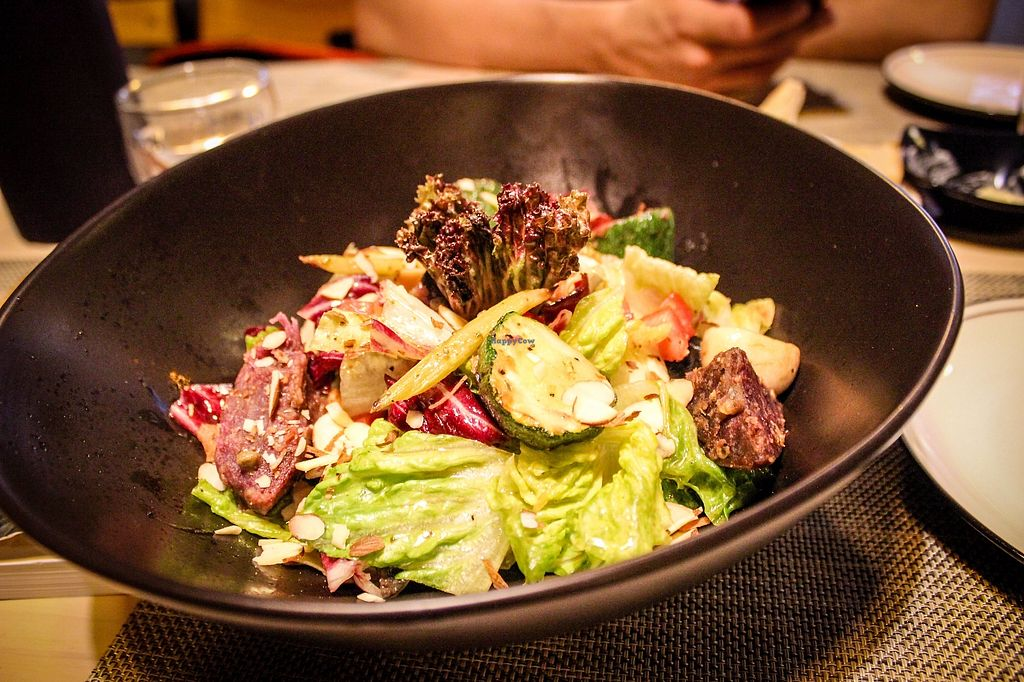 """Photo of Soul R. Vegan Cafe  by <a href=""""/members/profile/SueClesh"""">SueClesh</a> <br/>ceasar salad with """"bacon"""" <br/> October 28, 2017  - <a href='/contact/abuse/image/51321/319508'>Report</a>"""