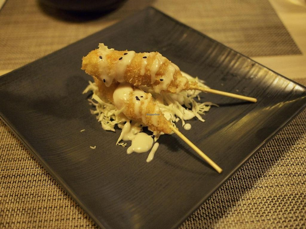 """Photo of Soul R. Vegan Cafe  by <a href=""""/members/profile/bluesomeone"""">bluesomeone</a> <br/>Appetizer-fried shrimp <br/> September 14, 2014  - <a href='/contact/abuse/image/51321/79953'>Report</a>"""