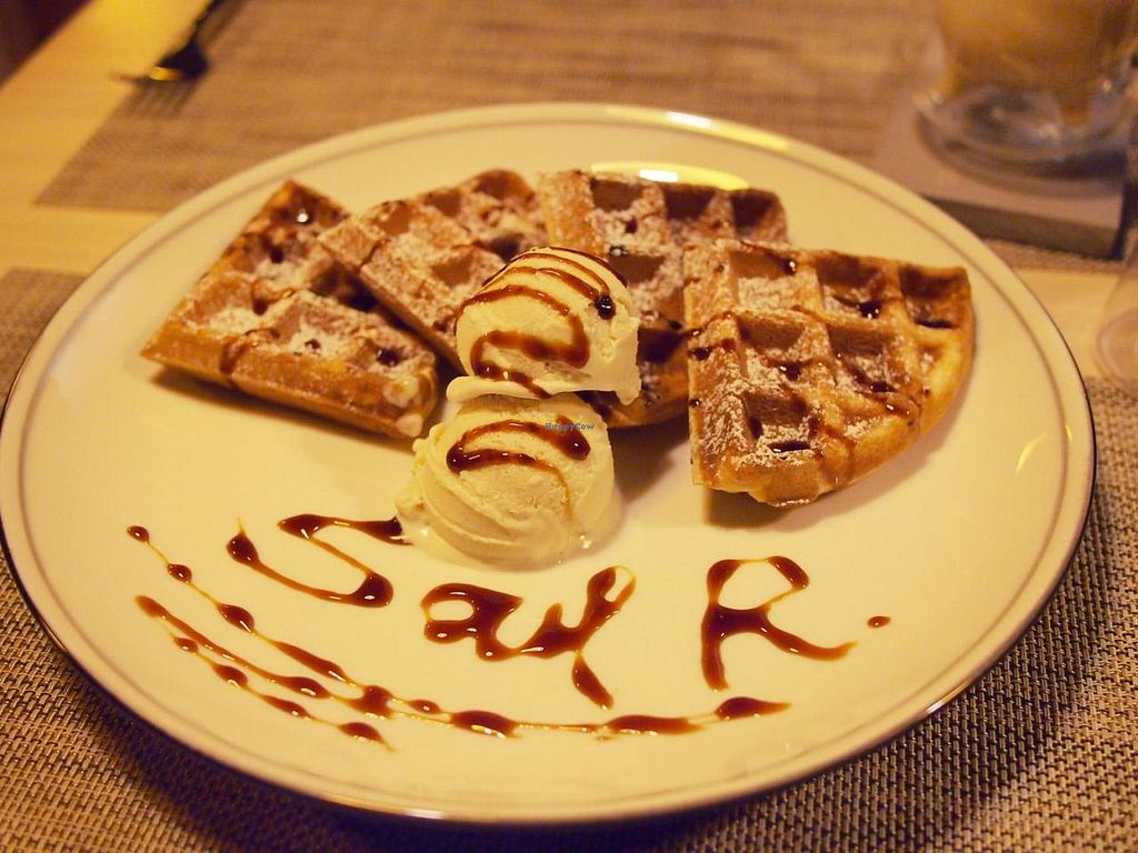 """Photo of Soul R. Vegan Cafe  by <a href=""""/members/profile/bluesomeone"""">bluesomeone</a> <br/>Vegan waffle with ice cream  <br/> September 14, 2014  - <a href='/contact/abuse/image/51321/79956'>Report</a>"""