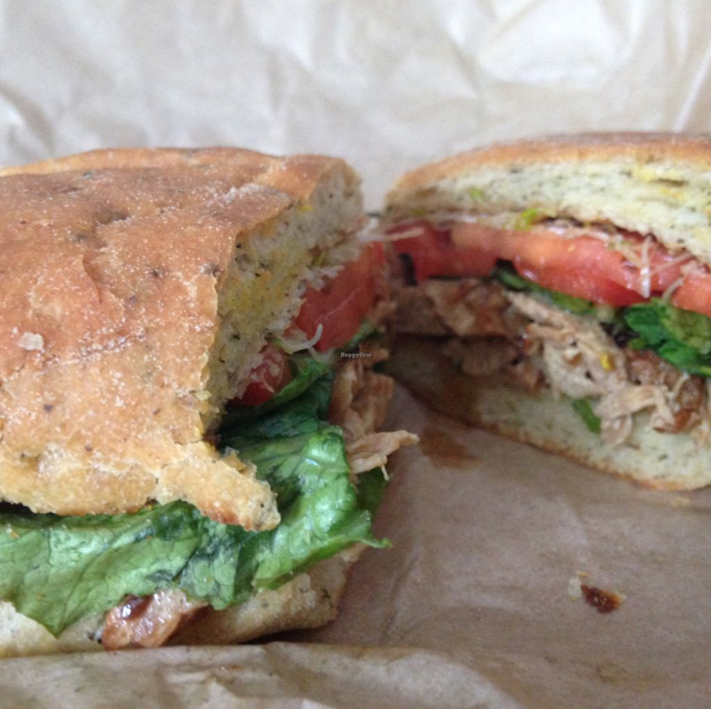 "Photo of Copper Branch - Bishop  by <a href=""/members/profile/nardanddee"">nardanddee</a> <br/>shiitake teriyaki chicken sandwich <br/> August 28, 2015  - <a href='/contact/abuse/image/51325/115525'>Report</a>"