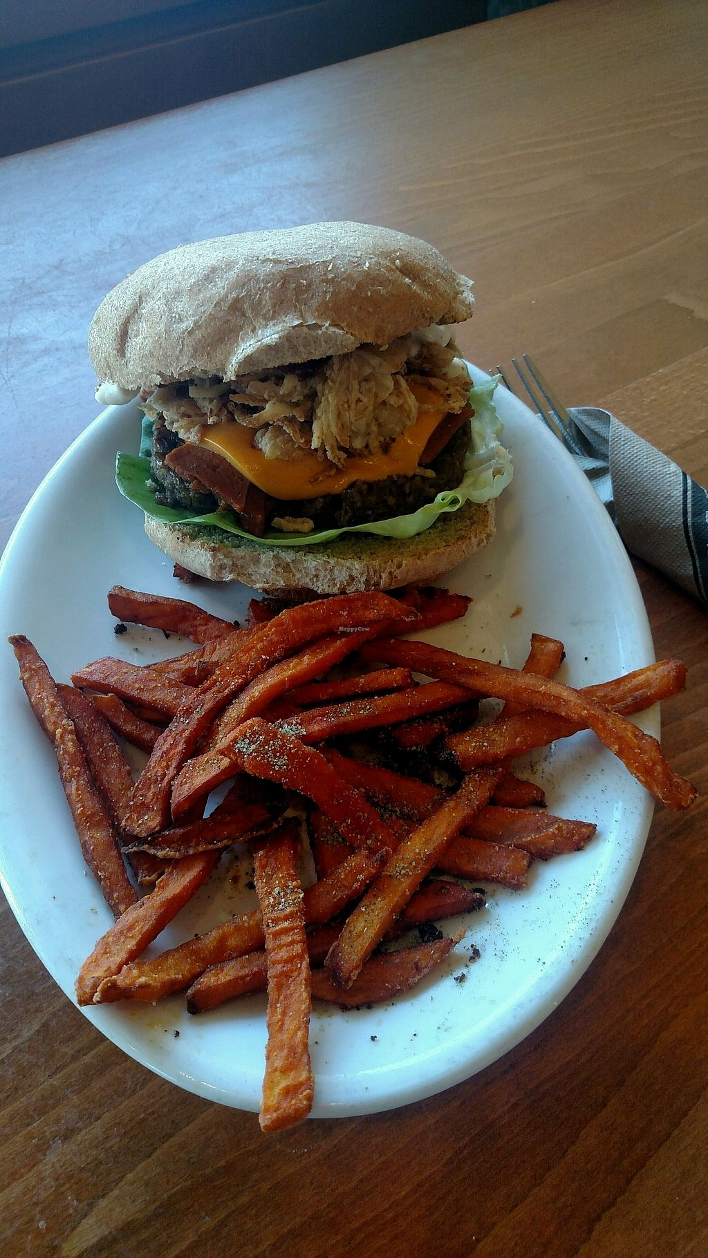 """Photo of Native Foods - Claremont Mesa  by <a href=""""/members/profile/GrinLaughPlay"""">GrinLaughPlay</a> <br/>Big Ol Burger <br/> November 16, 2017  - <a href='/contact/abuse/image/51357/326263'>Report</a>"""