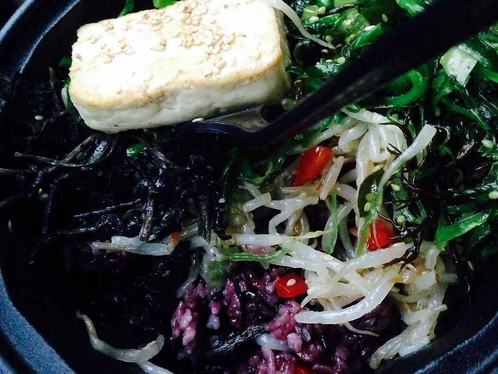 "Photo of Triple B Fresh  by <a href=""/members/profile/cookiem"">cookiem</a> <br/>One possible bibimbap with seaweed, bean sprouts, watercress and wild greens over black rice <br/> October 5, 2014  - <a href='/contact/abuse/image/51417/191566'>Report</a>"
