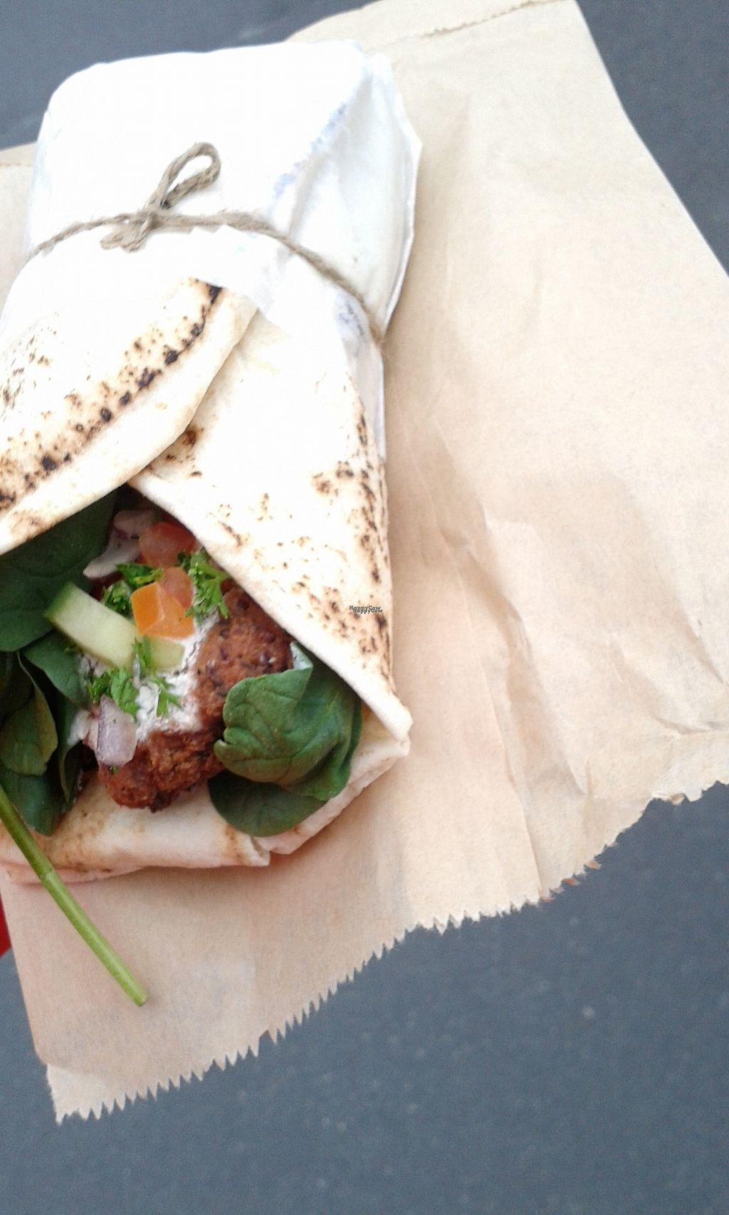 """Photo of Two Birds Eatery  by <a href=""""/members/profile/citizenInsane"""">citizenInsane</a> <br/>(partial) vegan falafel wrap, Two Birds <br/> October 10, 2016  - <a href='/contact/abuse/image/51422/180980'>Report</a>"""