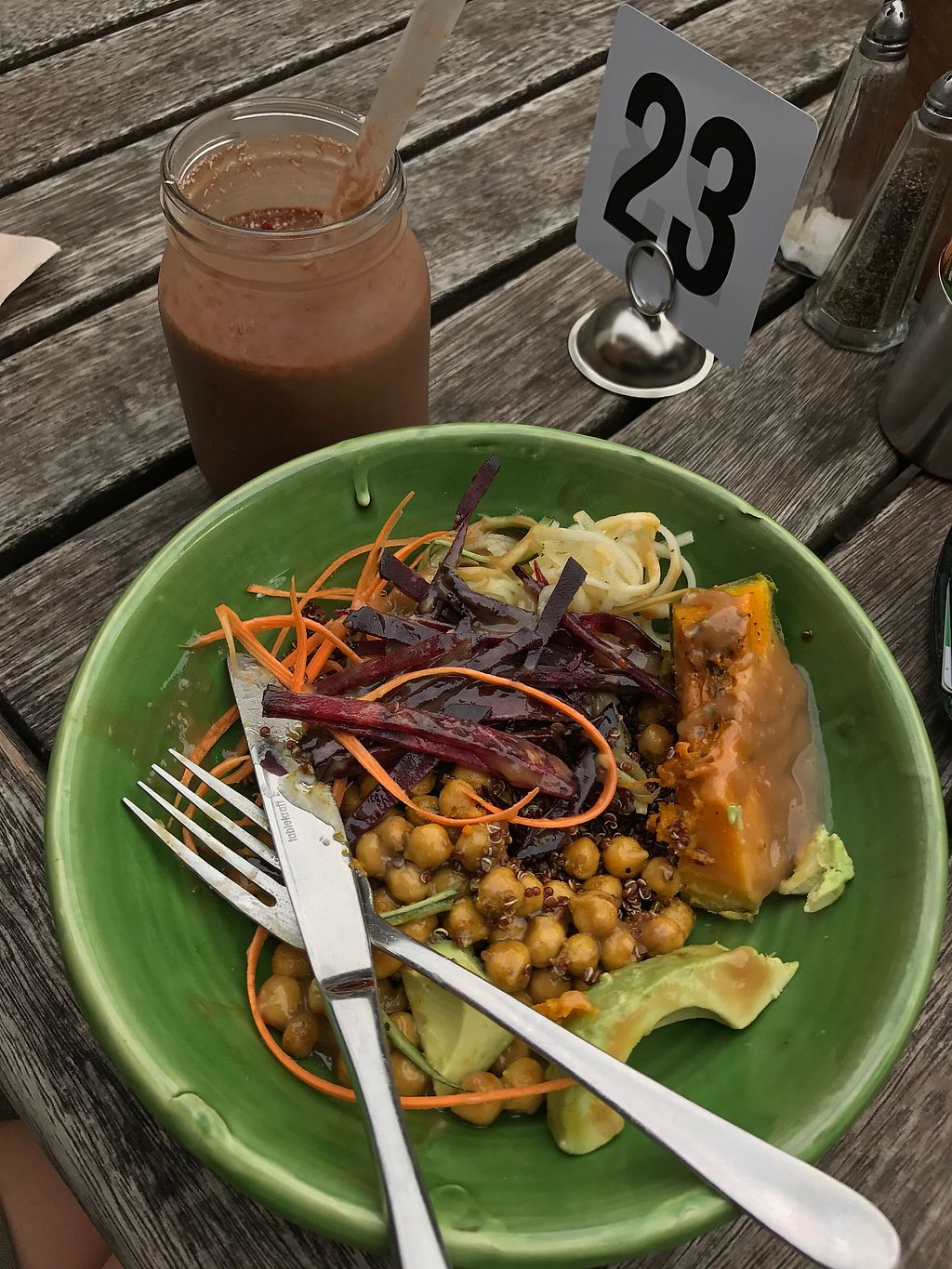 """Photo of Two Birds Eatery  by <a href=""""/members/profile/SabrinaMcKenzie"""">SabrinaMcKenzie</a> <br/>Choc PB smoothie and humble bowl <br/> January 25, 2018  - <a href='/contact/abuse/image/51422/350872'>Report</a>"""