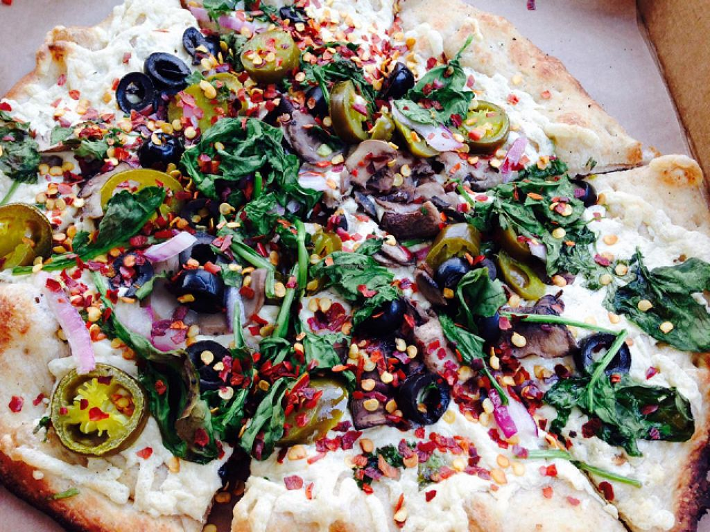 """Photo of Your Pie - Broadway  by <a href=""""/members/profile/calamaestra"""">calamaestra</a> <br/>veg pizza <br/> June 7, 2015  - <a href='/contact/abuse/image/51444/105030'>Report</a>"""