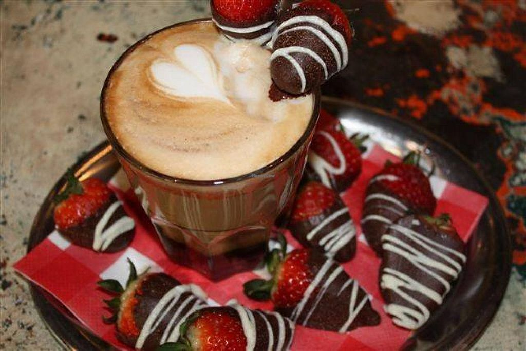 """Photo of Babu's Bakery and Coffeehouse  by <a href=""""/members/profile/community"""">community</a> <br/>strawberry-Chocolate Cappuccino <br/> September 22, 2014  - <a href='/contact/abuse/image/51448/80790'>Report</a>"""