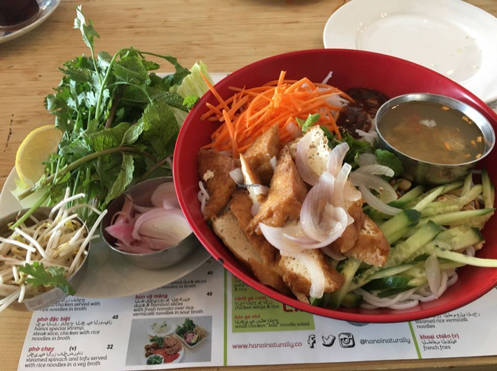 """Photo of Hanoi Naturally  by <a href=""""/members/profile/FarizzaHansen"""">FarizzaHansen</a> <br/>salad bowl with sautee tofu and rice noodle <br/> June 4, 2016  - <a href='/contact/abuse/image/51467/152306'>Report</a>"""