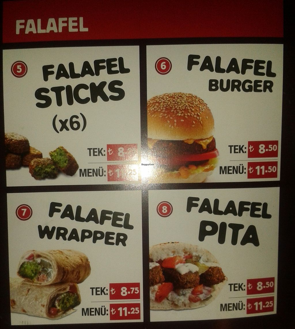 """Photo of Upper West Side Falafel  by <a href=""""/members/profile/MajaBizjak"""">MajaBizjak</a> <br/>Falafel options and prices <br/> March 14, 2016  - <a href='/contact/abuse/image/51478/139985'>Report</a>"""
