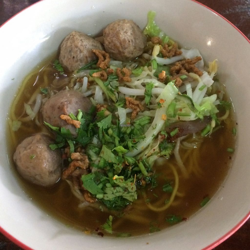 "Photo of Tamachat  by <a href=""/members/profile/FatTonyBMX"">FatTonyBMX</a> <br/>Noodle soup with mushroom balls. Our least favorite of the three soups we had.  <br/> January 23, 2017  - <a href='/contact/abuse/image/5147/215272'>Report</a>"