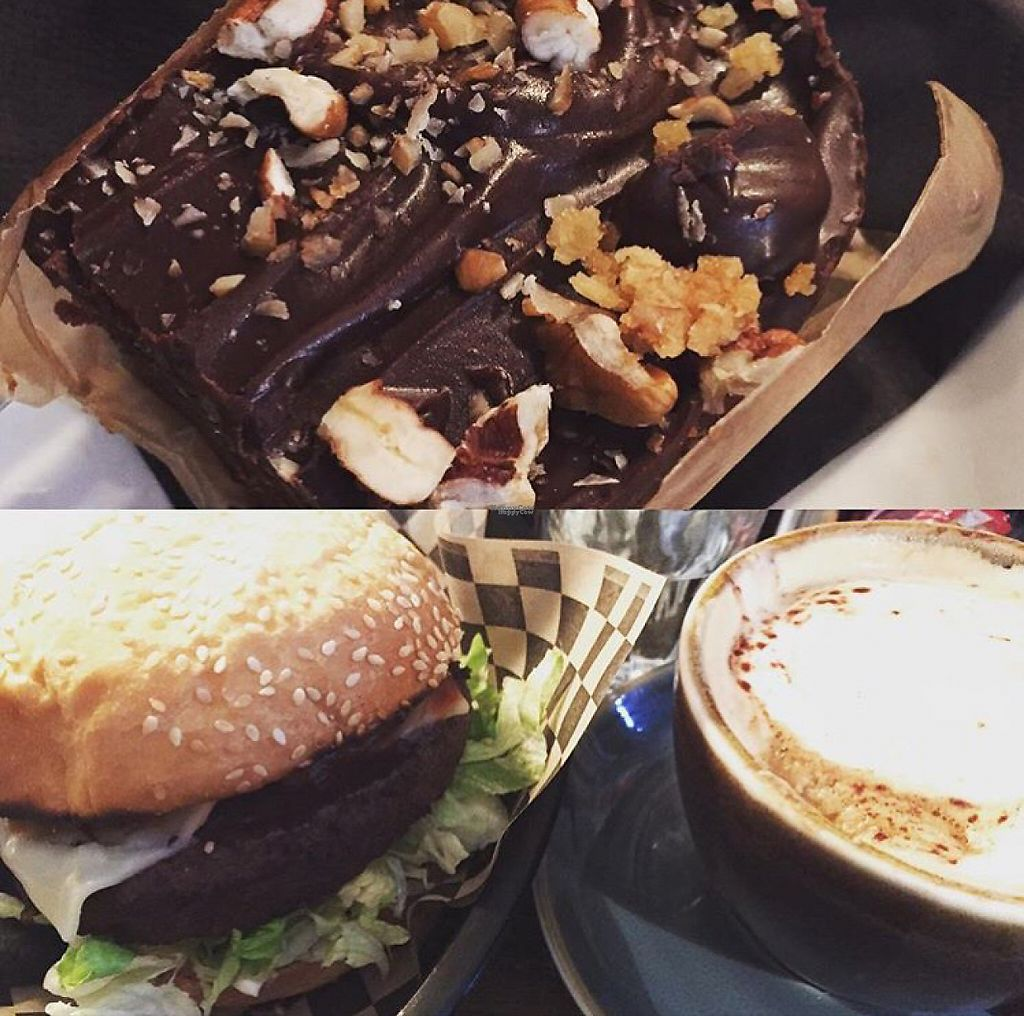 """Photo of The Waiting Room  by <a href=""""/members/profile/Polstar"""">Polstar</a> <br/>Fonz burger - veganised and brownie <br/> January 23, 2017  - <a href='/contact/abuse/image/51488/215362'>Report</a>"""