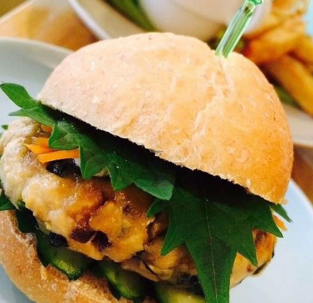 """Photo of Rect Sand Cafe  by <a href=""""/members/profile/community"""">community</a> <br/>vegan burger  <br/> October 2, 2014  - <a href='/contact/abuse/image/51518/81978'>Report</a>"""