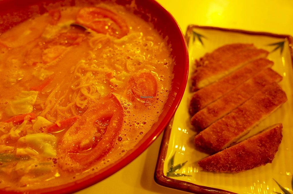"Photo of Sin Tak Fook Vegetarian  by <a href=""/members/profile/ouikouik"">ouikouik</a> <br/>474. dough in tomato soup with pork chop (鮮茄蓉濃湯生面跟豬扒 (hkd52) <br/> November 3, 2015  - <a href='/contact/abuse/image/51522/123683'>Report</a>"