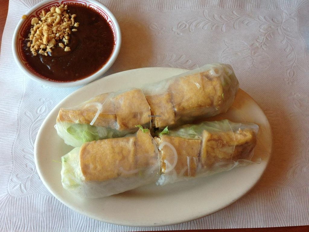 """Photo of KinhDo  by <a href=""""/members/profile/EverydayTastiness"""">EverydayTastiness</a> <br/>tofu spring roll vegan <br/> September 26, 2014  - <a href='/contact/abuse/image/51535/81171'>Report</a>"""