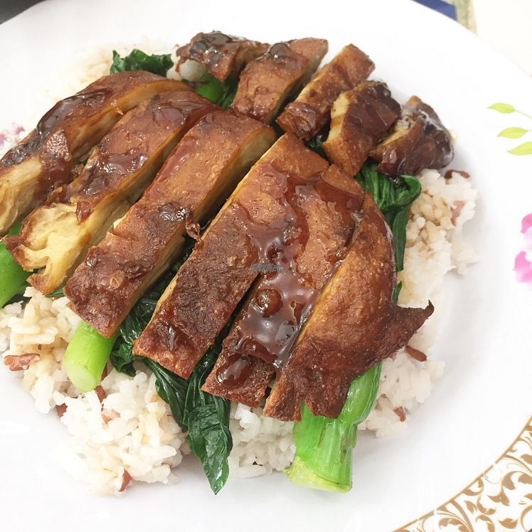 "Photo of Ka Ka Lok Fast Food Shop  by <a href=""/members/profile/SamanthaIngridHo"">SamanthaIngridHo</a> <br/>Vegan ""Pork"" rice  <br/> October 28, 2016  - <a href='/contact/abuse/image/51554/184912'>Report</a>"