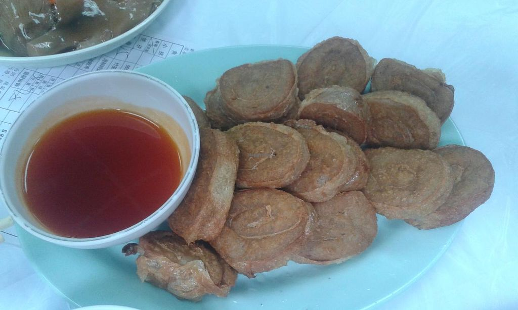 """Photo of Wun Chuen Vegetarian Centre  by <a href=""""/members/profile/Stevie"""">Stevie</a> <br/>Taro & sweet & sour sauce <br/> May 25, 2015  - <a href='/contact/abuse/image/51564/103329'>Report</a>"""