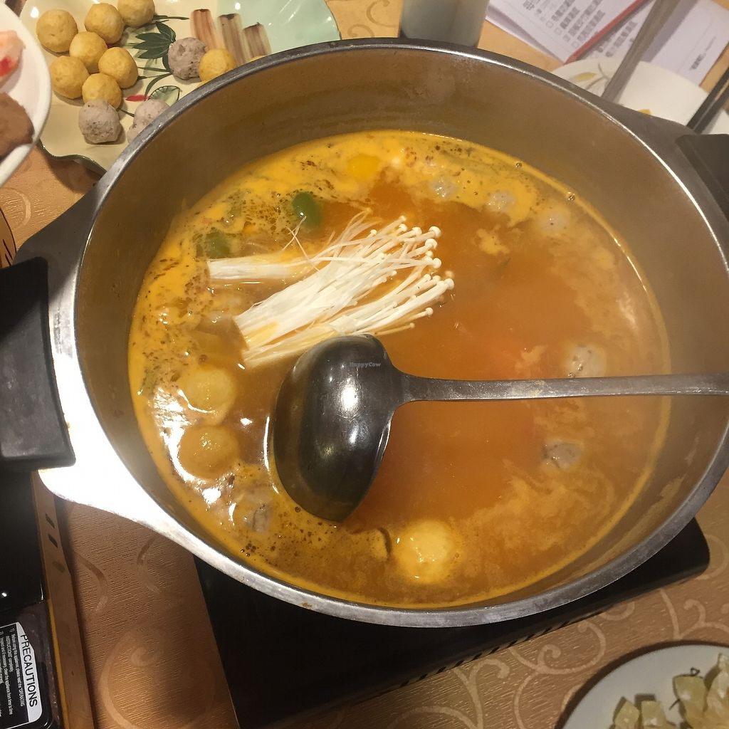 "Photo of Mighty Vegetarian - Yuen Long  by <a href=""/members/profile/SamanthaIngridHo"">SamanthaIngridHo</a> <br/>Hot pot - tom yam soup base <br/> August 22, 2017  - <a href='/contact/abuse/image/51569/295789'>Report</a>"