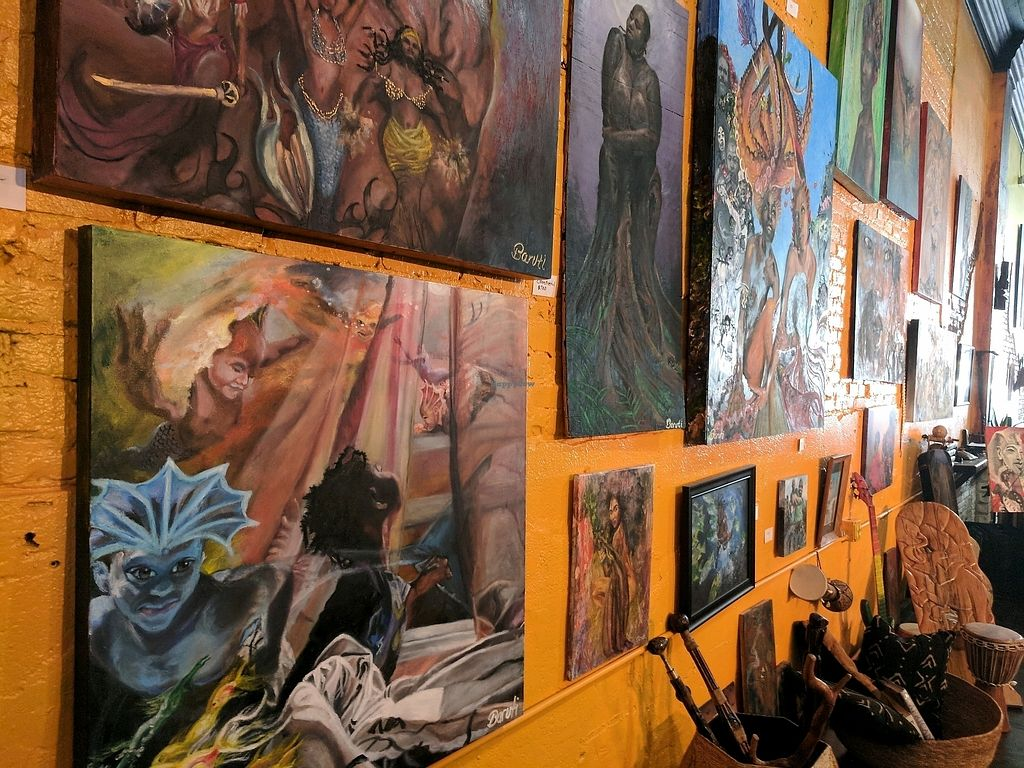 """Photo of Humanitree House Juice Joint and Gallery  by <a href=""""/members/profile/TerenceWashington"""">TerenceWashington</a> <br/>vegan dishes and art <br/> September 14, 2017  - <a href='/contact/abuse/image/51580/304429'>Report</a>"""