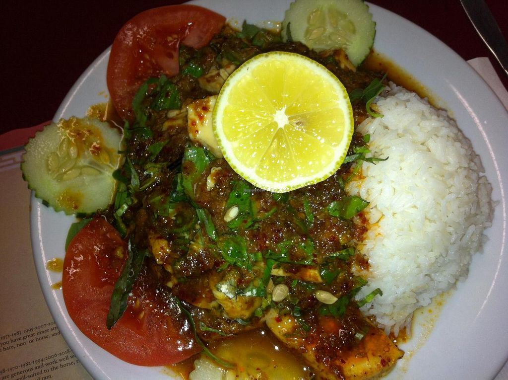 "Photo of Pat's Restaurant  by <a href=""/members/profile/Little%20Laura"">Little Laura</a> <br/>One vegetarian dish with saw leaves and lots of little thai chilies.  Spicy! <br/> November 19, 2014  - <a href='/contact/abuse/image/51589/86045'>Report</a>"