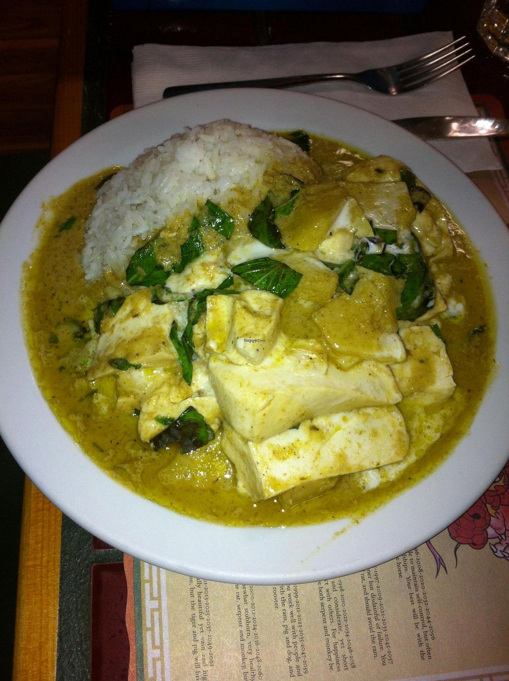 "Photo of Pat's Restaurant  by <a href=""/members/profile/Little%20Laura"">Little Laura</a> <br/>A vegetarian dish - green curry with pineapple and tofu… sweet and spicy.   <br/> November 19, 2014  - <a href='/contact/abuse/image/51589/86047'>Report</a>"