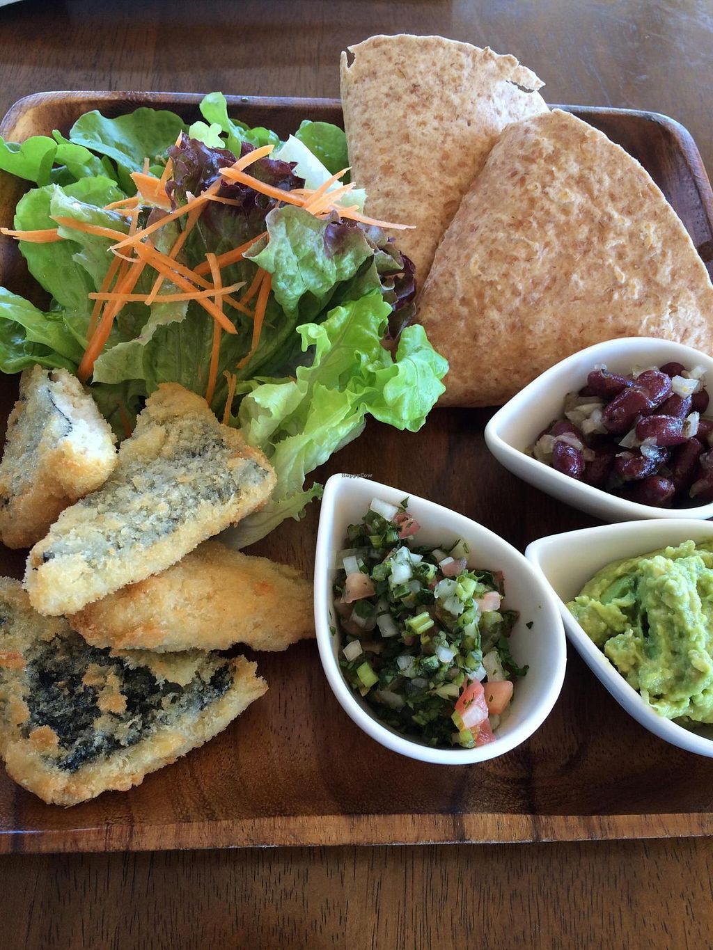 """Photo of Tami's  by <a href=""""/members/profile/Vegeiko"""">Vegeiko</a> <br/>Vege fish tacos set, what a bliss!! <br/> June 13, 2015  - <a href='/contact/abuse/image/51601/105875'>Report</a>"""