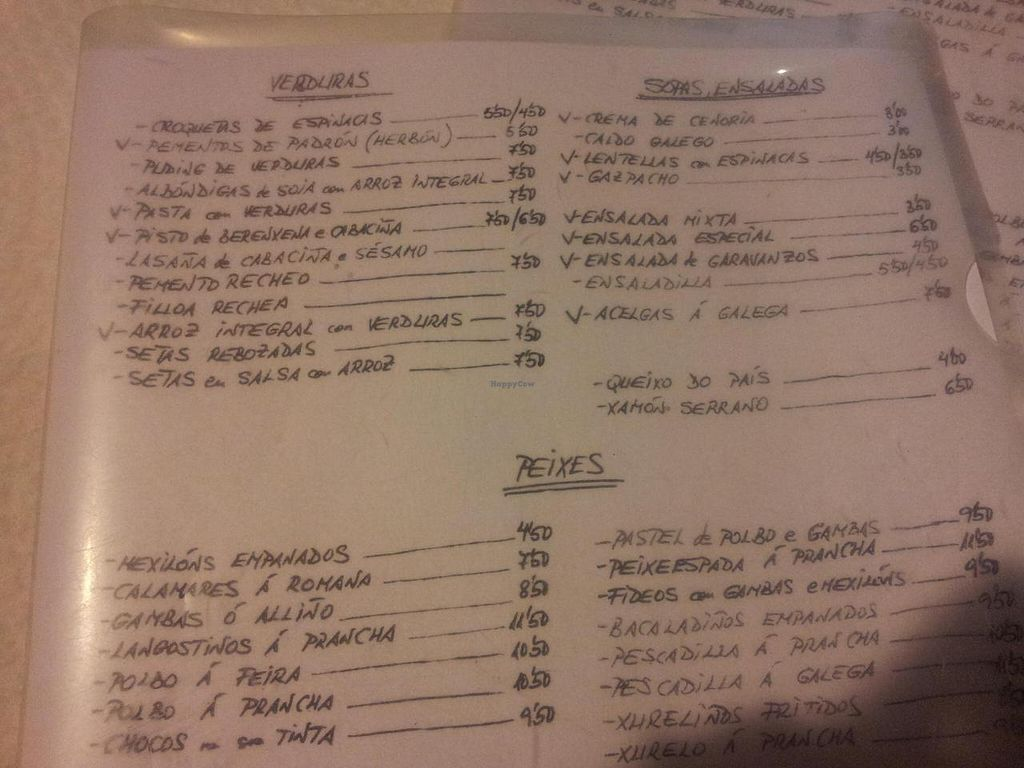 """Photo of A Tulla  by <a href=""""/members/profile/hj2014"""">hj2014</a> <br/>A photo of the menu (all vegan items marked 'V') <br/> September 23, 2014  - <a href='/contact/abuse/image/51606/80797'>Report</a>"""