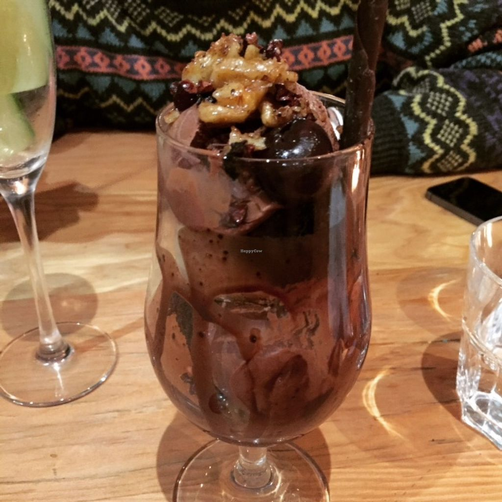 """Photo of Curly Kale Cafe  by <a href=""""/members/profile/freya2770"""">freya2770</a> <br/>Chocolate cherry brownie sundae with locally made gelato  <br/> May 7, 2016  - <a href='/contact/abuse/image/51608/147909'>Report</a>"""