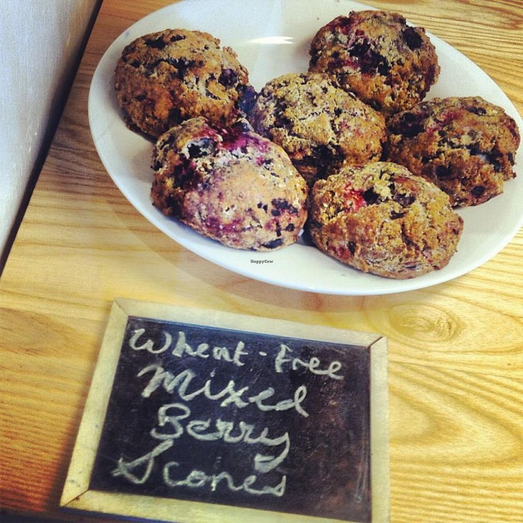 """Photo of White Heron Tea and Coffee  by <a href=""""/members/profile/community"""">community</a> <br/>mixed berry scones  <br/> October 1, 2014  - <a href='/contact/abuse/image/51628/81768'>Report</a>"""