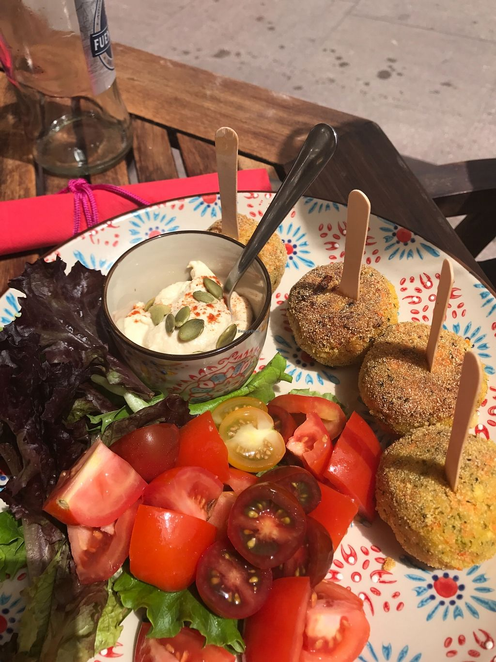 "Photo of Baobab Juice Bar Casa Vegetariana  by <a href=""/members/profile/EllisS"">EllisS</a> <br/>Special which was croquettes <br/> July 30, 2017  - <a href='/contact/abuse/image/51671/286598'>Report</a>"