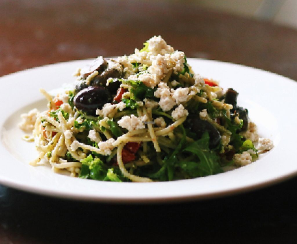 "Photo of Lentil as Anything - Newtown  by <a href=""/members/profile/andreafluss"">andreafluss</a> <br/>Pesto pasta salad + olives + chargrilled capsicum <br/> January 21, 2017  - <a href='/contact/abuse/image/51690/248132'>Report</a>"