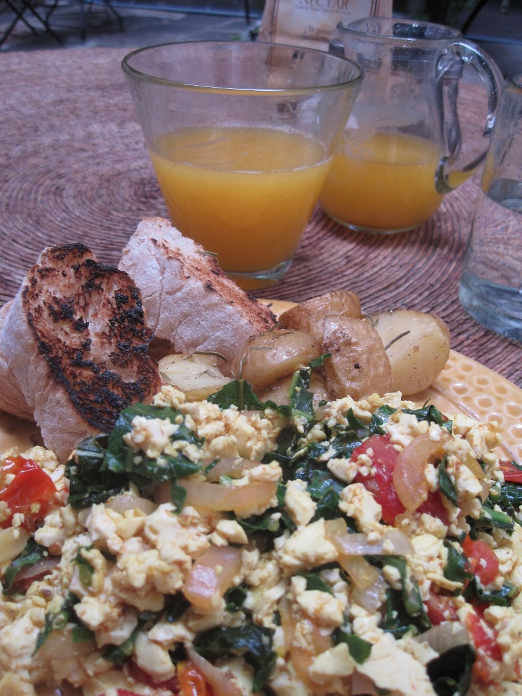 """Photo of Nectar  by <a href=""""/members/profile/sukifrance"""">sukifrance</a> <br/>Tofu breakfast.  Delish and oh so difficult to find in San Miguel <br/> July 1, 2016  - <a href='/contact/abuse/image/51693/157063'>Report</a>"""