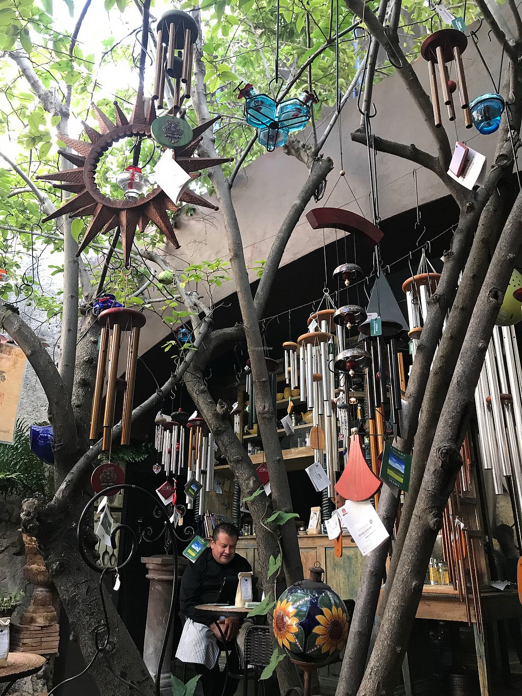 """Photo of Nectar  by <a href=""""/members/profile/MarinKat"""">MarinKat</a> <br/>Lots of wind chimes on this shady outdoor patio <br/> October 25, 2017  - <a href='/contact/abuse/image/51693/318843'>Report</a>"""