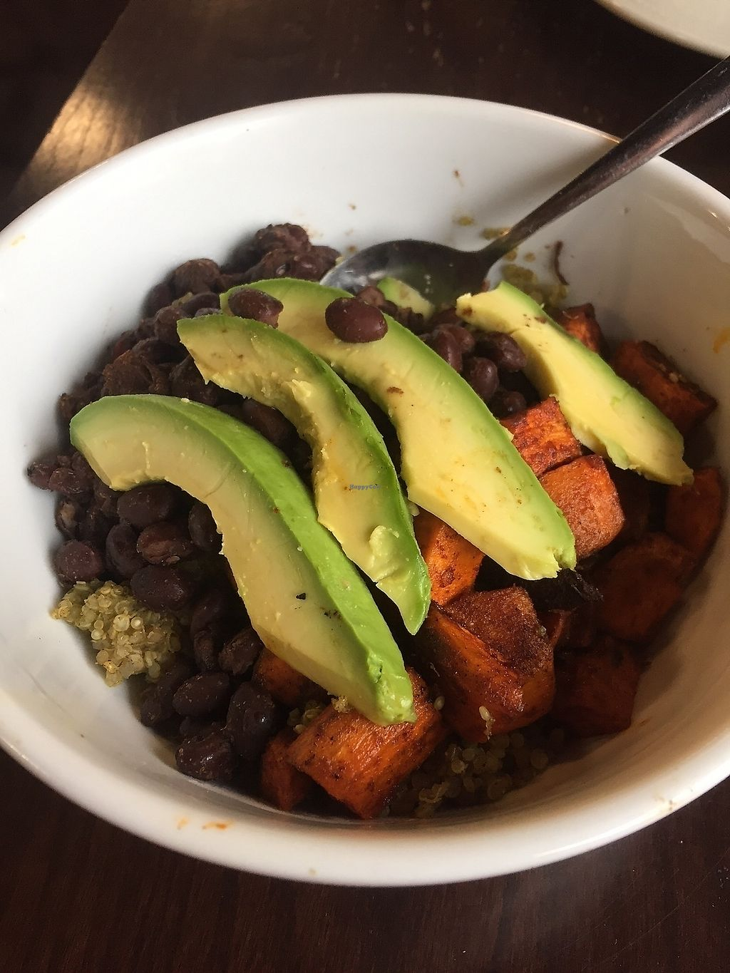 """Photo of The Farm Concessions and Café  by <a href=""""/members/profile/NorthernStar"""">NorthernStar</a> <br/>Black bean, sweet potato, green quinoa bowl <br/> September 16, 2017  - <a href='/contact/abuse/image/51695/305145'>Report</a>"""