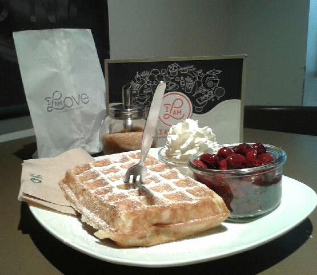 "Photo of I Am Love  by <a href=""/members/profile/lucidfood"">lucidfood</a> <br/>vegan Waffles with Cherries and vegan Coconut-Whipcream <br/> September 14, 2015  - <a href='/contact/abuse/image/51703/117699'>Report</a>"
