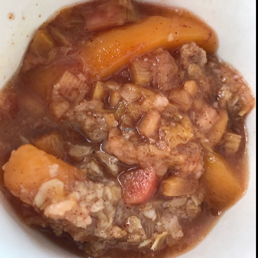 """Photo of Engrained  by <a href=""""/members/profile/Tigra220"""">Tigra220</a> <br/>Vegan Peach Rhubarb Crisp  <br/> April 17, 2017  - <a href='/contact/abuse/image/51735/249460'>Report</a>"""